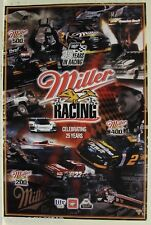 Miller 25 Years of Racing poster Nascar Nhra Indy LaManns truck boat auto racing