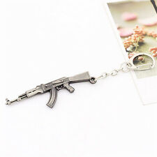 AK47 arma llave de la cadena de los hombres clásicos llavero anillo colganFWS