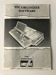 Vintage AMSTRAD PPC Organizer Software User Instruction Manual 1988 EEUC
