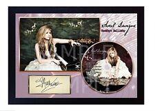 Avril Lavigne Goodbye Lullaby SIGNED Autographed FRAMED PHOTO CD Disc