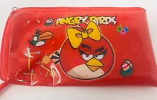 """Angry Bird Red Plastic Wristlet Wallet Coin Purse 5.5"""" X 3""""."""