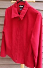 Women's Red Shirt/Jacket by Briggs; Size:  8P