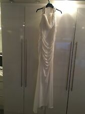 Jovani Evening Dress White,Diamond Stone Bk Wedding Occasion Party Prom£600 New