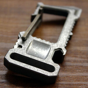 Titanium TC4 Multi EDC Key Chain Opener Crowbar Self-defense Survival Tool L-61K