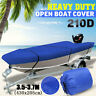 Waterproof Heavy Duty 210D Open Boat Cover Trailerable Fish Ski V-Hull