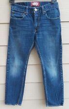 Levi's #511 Boys Jeans 16 Reg. 28X28 Skinny Blue Whiskered Denim