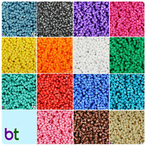 BeadTin Opaque 11mm TriBead Craft Beads (600pcs) - Color choice