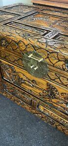 Large camphor wood chest