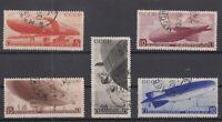 BE5757/ RUSSIA – ZEPPELIN – MI # 483 / 487 COMPLETE USED – CV 130 $