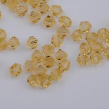 swarovski Crystal 4mm 5301# Bicone Beads Gold champagne 500pcs