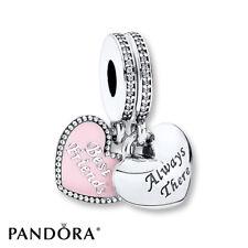 NEW Authentic Pandora S925 Best Friends Charm, Pink Enamel & Clear CZ #791950CZ