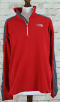 THE NORTH FACE Red Fleece 1/4 Zip Jumper size M