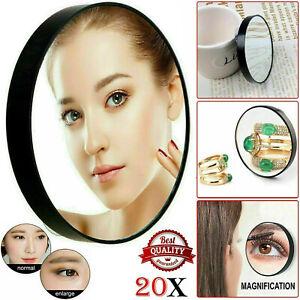 Cosmetic vanity Make Up Mirror Handbag Travel Small 20X Magnifying Pocket Mirror