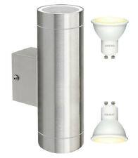 Modern Stainless Steel LED Double Up Down Outdoor Wall Light IP65 Energy Saving