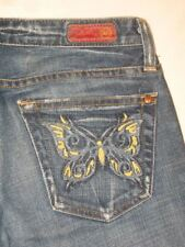 AG ADRIANO GOLDSCHMIED The Tease Low Bootcut Jeans Butterfly Pocket Sz 26