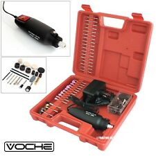 VOCHE® MINI ROTARY HOBBY DRILL KIT WITH 160 ACCESORIES GRINDER BURRS BITS + CASE