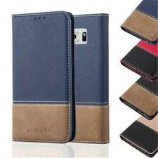 Book Style Cover Case for APPLE SAMSUNG Flip X-Wallet Card Slot invisible Magnet