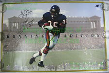 Neal Anderson SIGNED NIKE Poster Running Tradition Chicago Bears Soldier Field