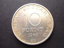 Ungarn 10 Forint 1948 Silber vzgl Kratzer KM538