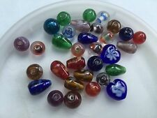 Vintage Sample Card Mix Color Jubilee Shape, Design Style Trade Glass Bead Lot