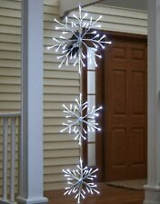 Lighted Snowflake Hanger with Timer – Outdoor Christmas Decor