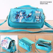 Miku Hatsune Anime PU Tasche Tragtasche Kosmetiktasche Schlamper Geldbeutel Etui