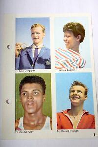 CASSIUS CLAY - ALI - Hemmets Journal - Rookie Card - Rare Set w 16 panels - 1960