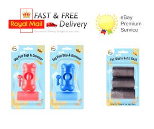 Pet Dog Poo Bag Poo Holder Dispenser Refill Carrier Poo Bags Roll