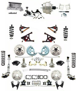 """2"""" Drop Chevelle Wilwood Caliper Disc Brake Kit Coil Over & Control Arms"""