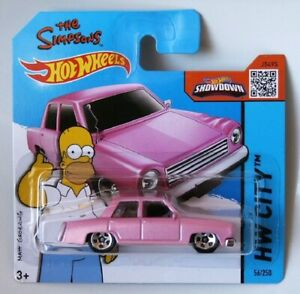 THE SIMPSONS FAMILY CAR PINK #112/365 HOT WHEELS DIECAST SCALE 1/64 NEW S/C AU