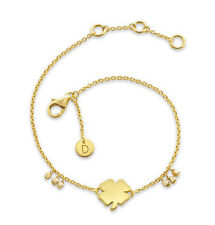 Daisy London Jewellery NEW! 18ct Gold Plated Clover Good Karma Bracelet