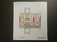 "Squiggee Hand-painted Needlepoint Canvas Large 3-D ""The Little Castle"""