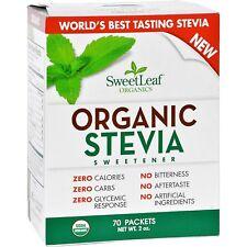 Sweet Leaf Organic Stevia Sweetener 70 Packets 1.25 oz SweetLeaf ZERO CALORIES