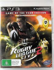 NRL Rugby League Live 2 Game Of The Year Edition Sony PlayStation 3