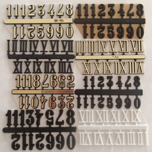 14 mm/15 mm Self Adhesive Numerals Arabic/Roman Numbers For Clock making
