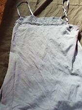 Women's Felina Lingerie Pima Cotton Camisole Lace Trim Gray Large