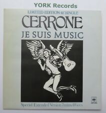 "CERRONE - Je Suis Music - Excellent Condition 12"" Single CBS 12 6918"