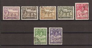 TURKS & CAICOS ISLANDS 1938-45 SG 201/5 USED  Cat £71.40