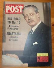 PICTURE POST 21ST JAN 1957 HAROLD MACMILLAN COVER ANASTASIA CZARINA OR FAKE?