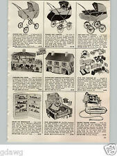 1957 PAPER AD Doll Carriage Buggy House Betsy Ross Necci Sewing Machine Hoover