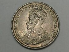 VF 1919 Silver Canadian Twenty-Five Cent Coin. CANADA 25¢. #158