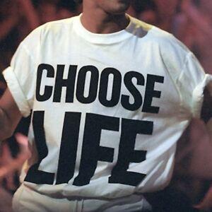 Choose Life Wham Retro 80s 80's T Shirt XS-3XL fancy dress (CHOOSE LIFE, TSHIRT)
