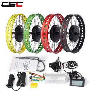 electric snow fat bike Conversion Kit 48V 500W 1000W 1500W 20 24 26in 4.0 Tyre