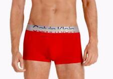CALVIN KLEIN Steel Microfiber Pride Edit Red Low Rise Trunk Underwear NEW Mens M