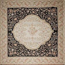 """STUNNING HANDMADE FRENCH NEEDLEPOINT RUG AUBUSSON TAPESTRY 11'6"""" x 11'6"""" SQUARE"""