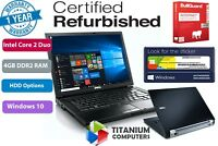 "Dell Latitude E6400 14"" C2D 4GB Ram 80GB to 1TB HDD, SSD Option Windows 10"