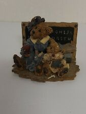 Boyds Bears & Friends Bearstone MISS BRUIN & BAILEY STYLE # 2259 THE LESSON