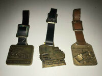 VINTAGE TRACTOR WATCH FOB LOT  CAT 1200, IH Trac Tractor, Allis Chalmers