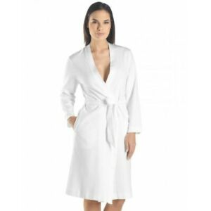 Jersey white 100% cotton dressing gown robe embroidered ANY NAME luxury gift