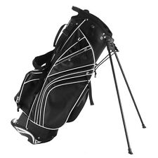 Golf Stand Cart Bag Club w/6 Way Divider Carry Organizer Pockets Storage Black